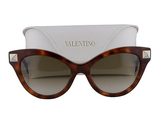 Amazon.com: Valentino V657S anteojos de sol Blonde Havana W ...