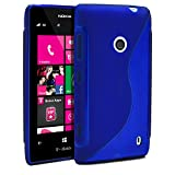 Nokia Lumia 520 Case, MagicMobile Ultra Slim Protective Case for Lumia 520 Thin Durable S-Line Design Flexible Impact Resistant Anti-Scratch Transparent TPU Cover (Blue) [Compatible with Nokia Lumia 520 All Carriers]