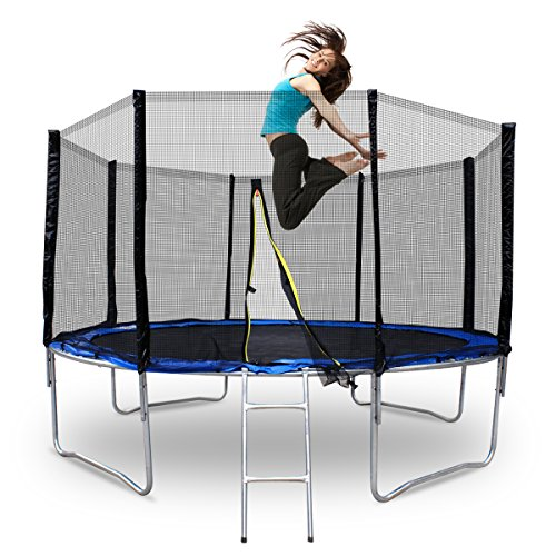 F2c 174 New 12 Round Trampoline Set 4 Legs With Frame Blue