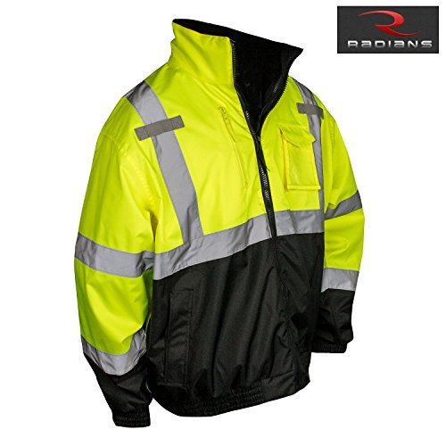 Radians SJ210B-3ZGS-M Three-in-One Deluxe Hi-Viz Bomber Jacket - Medium by -
