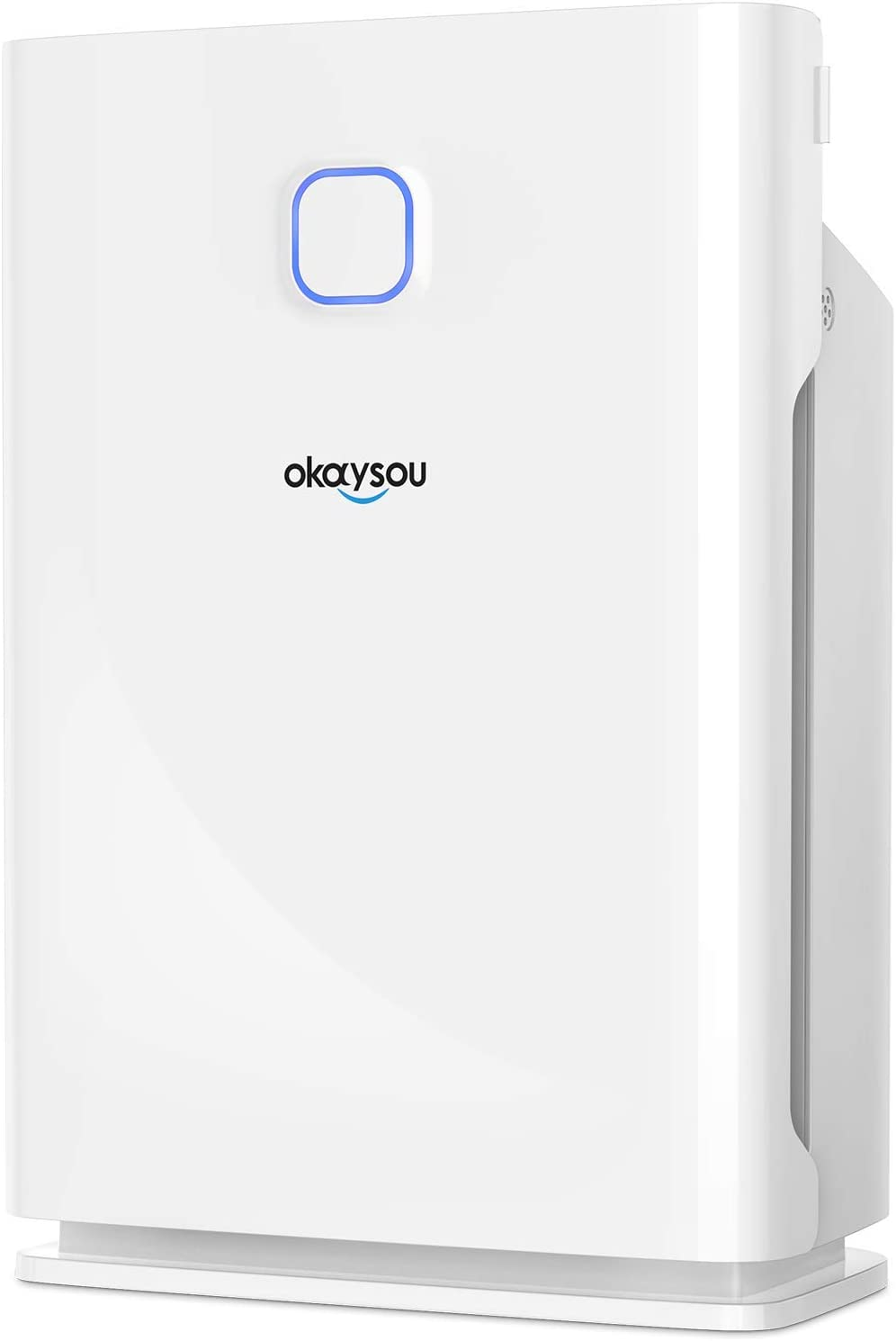 Okaysou Smart AirMax10L Pro Air Purifier with Washable Dual-Nanois Three Filters, Medical Grade 5-in-1 Home Air Cleaner for Pets, Odors, Smokers, Extra-Large Room, 1000 Sq Ft, White