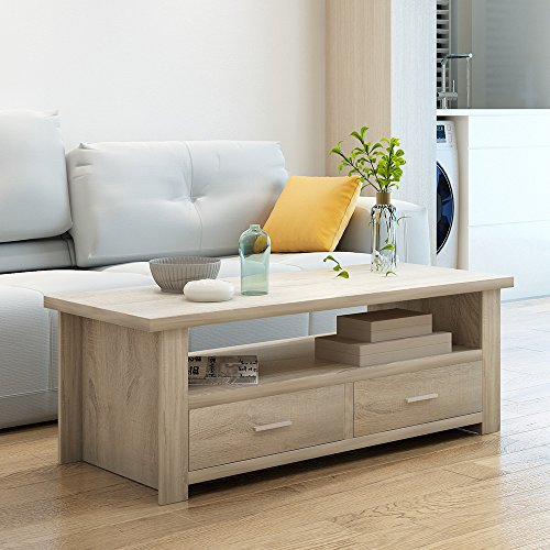 home & kitchen, furniture, living room furniture, tables,  coffee tables  image, soges Coffee Table/Console Table/TV Stand Living Room Entertainment Center Media Storage Console Living Room Furniture, Natural Color in US2