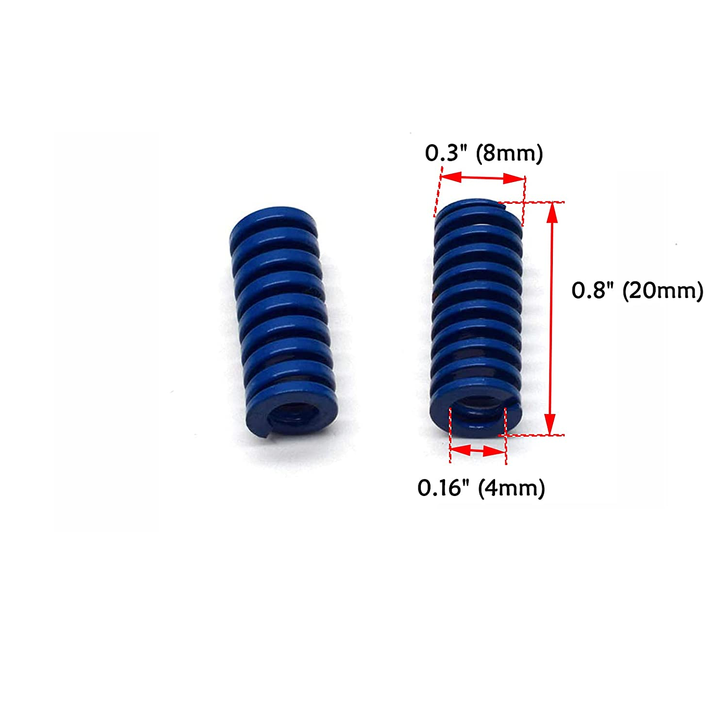 """Details about  /Compression Springs 8/"""" Long 1 1//2/"""" OD 5//8/"""" ID Lot of 4"""