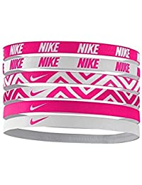 Printed Assorted Headbands 6PK,OSFM (Vivid Pink/White
