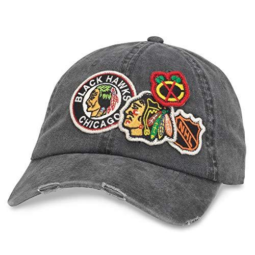 American Needle Chicago Blackhawks Iconic Distressed Adjustable Hat ()