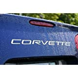 C5 Corvette Rear Stainless Steel Inserts - Letters