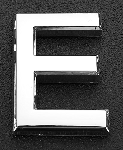 Do4U 1Pcs Silver Metal Letters A-Z Alphabet English Letters House & Mailbox Number 3D Radian Metal Number Self-stick (Letter 2.8 inches, E)
