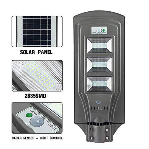 ECO-WORTHY 60W LED Solar Powered Street Light Outdoor Motion Sensor Dusk to Dawn Yard Garden Lamp Waterproof Wireless Solar Motion Sensor Street Light Control (1 Pack)