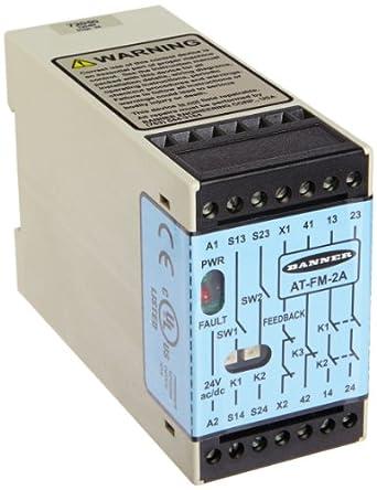 Banner at-fm-2 a Optoelectronic Sensor de movimiento Touch Control relés, 24 VAC/VDC, redundante relé de seguridad (force-guided) contactos, 4 un máximo, cada uno N.C. Reed del relé: Amazon.es: Amazon.es