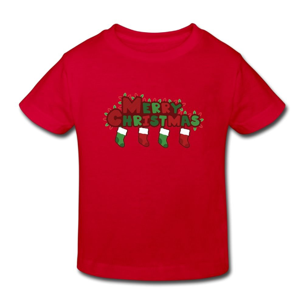 HYstyless Merry Christmas Short Sleeve Cotton Infant/Toddler T-Shirt 2Y To 6Y
