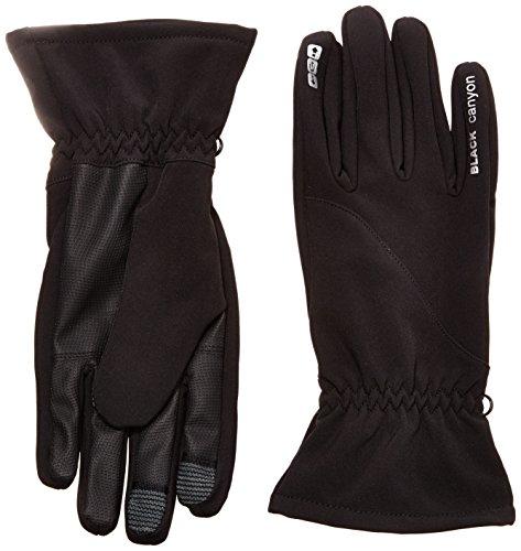 Black Canyon Touchscreen Softshell Handschuhe für Smartphone, schwarz, L, BC8046