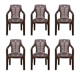 Nilkamal Set of 6 Chairs (Weather Brown)