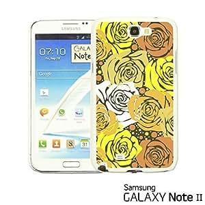 OnlineBestDigital - Flower Pattern Hardback Case for Samsung Galaxy Note 2 - Yellow Roses