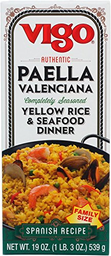 Vigo Paella Vallenciana 19-Ounce Boxes (Pack of (Paella Rice Dish)