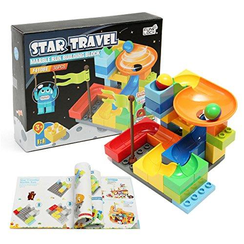 FUNTOK Marble Run Railway Construction Toys Star Travel Game 36pcs Building Blocks Toys for Child by FUNTOK (Image #5)