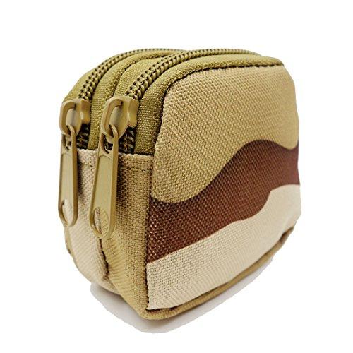 Generic Tactical Micro Double Layer MOLLE Tasche Mini Kleinteile Tasche Medaille Schlüssel Tasche Fall Reise Sporttasche - DCU