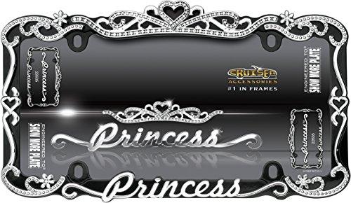 amazoncom cruiser accessories 22635 chromeblack princess license plate frame automotive