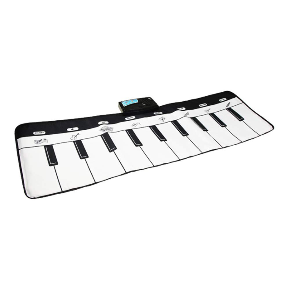 Play Keyboard Mat 43 Inches 10 Keys Foldable Floor Keyboard Piano Dancing Activity Mat Musical Keyboard Playmat Touch-sensitive Step And Play Instrument Toys For Toddlers Kids Children's Gift Differen by GAOCAN-gq (Image #3)