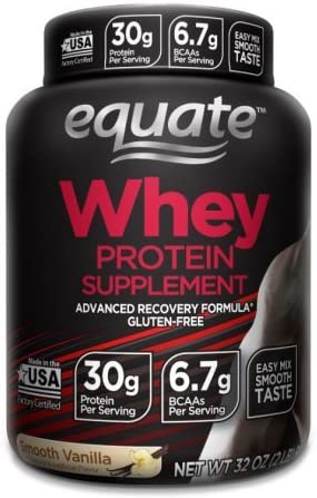Equate Smooth Vanilla Whey Protein 2lbs