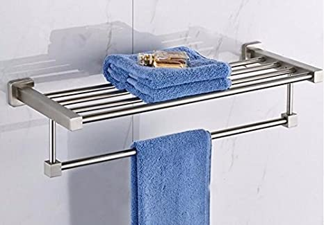 scloths toallero baño toallero Barra montado a Pared Acero ...