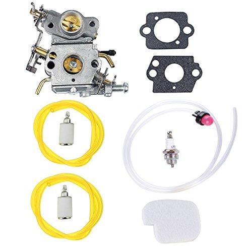 Podoy 545070601 Carburetor for Poulan Air Fuel Filter Kit with Gaskets Fuel Line Spark plug P3314 P3416 P3816 P4018 PP3416 PP3516 PP3816 PP4018 PP4218 PPB3416 PPB4018 PPB4218 Power Gas Chainsaw (545070601 Carburetor)