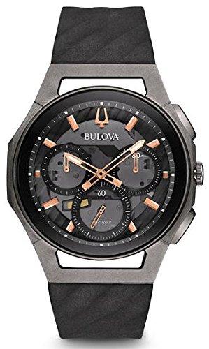 Bulova Men's 44mm CURV Collection Dark Gray Chronograph Watch -