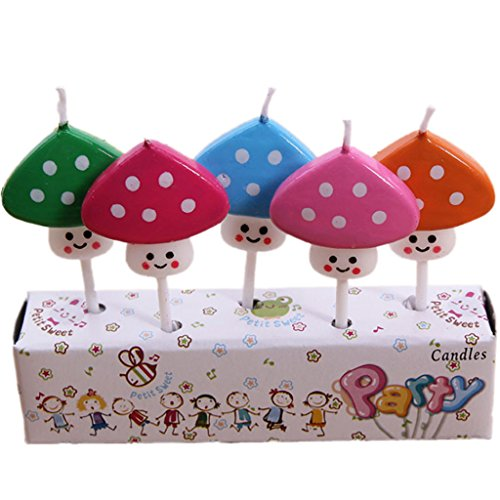Lotus Dessert (Kids Child Boys Girls Birthday Candles Cartoon Animals Novel Cake Candles 6#)