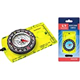 Orienteering Compass - Hiking Backpacking Compass - Advanced Scout Compass for Camping and Navigation - Boy Scout Compass Kids - Professional Field Compass Map Reading - Best Survival Gifts (Green)