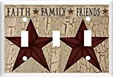 COUNTRY BARN STAR FAITH FAMILY FRIENDS LIGHT SWITCH COVER PLATE OR OUTLET (LIGHT TRIPLE)