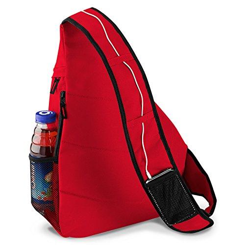 Picknick Mountain Bag Goodman modischer Rucksack - ideal zum Wandern, Freizeit, Outdoor, Rot