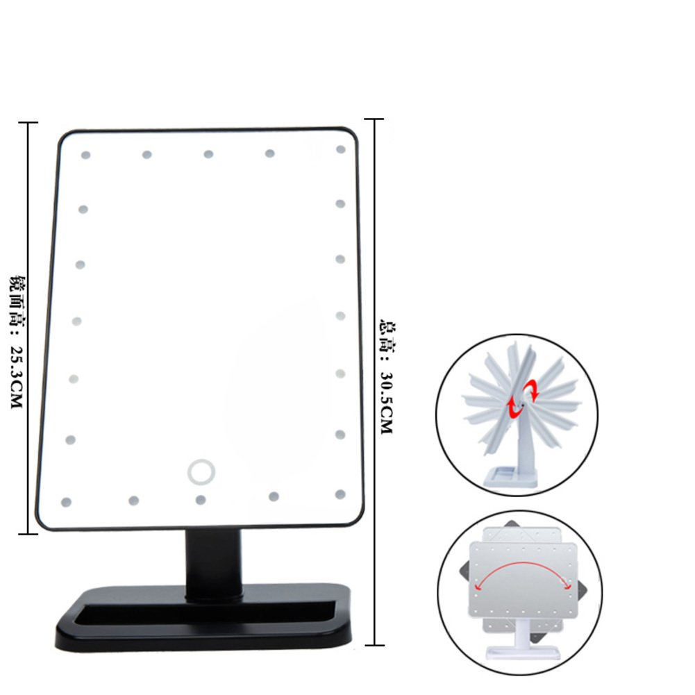 70%OFF LEDcosmetic mirror/Intelligent touch-screen/ the Princess Queen dressing mirror/ lighted cosmetic mirror-F