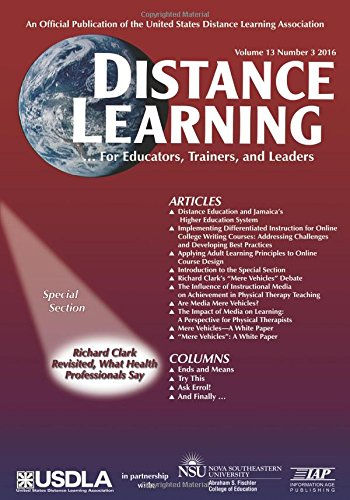 Distance Learning: Volume 13 #3 (Distance Learning Journal)