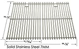 Stainless Steel Replacement Cooking Grid for Select Gas Grill Models by Jenn-Air, Perfect Glo, Glen Canyon, Permasteel , Nexgrill and Others, Set of 2