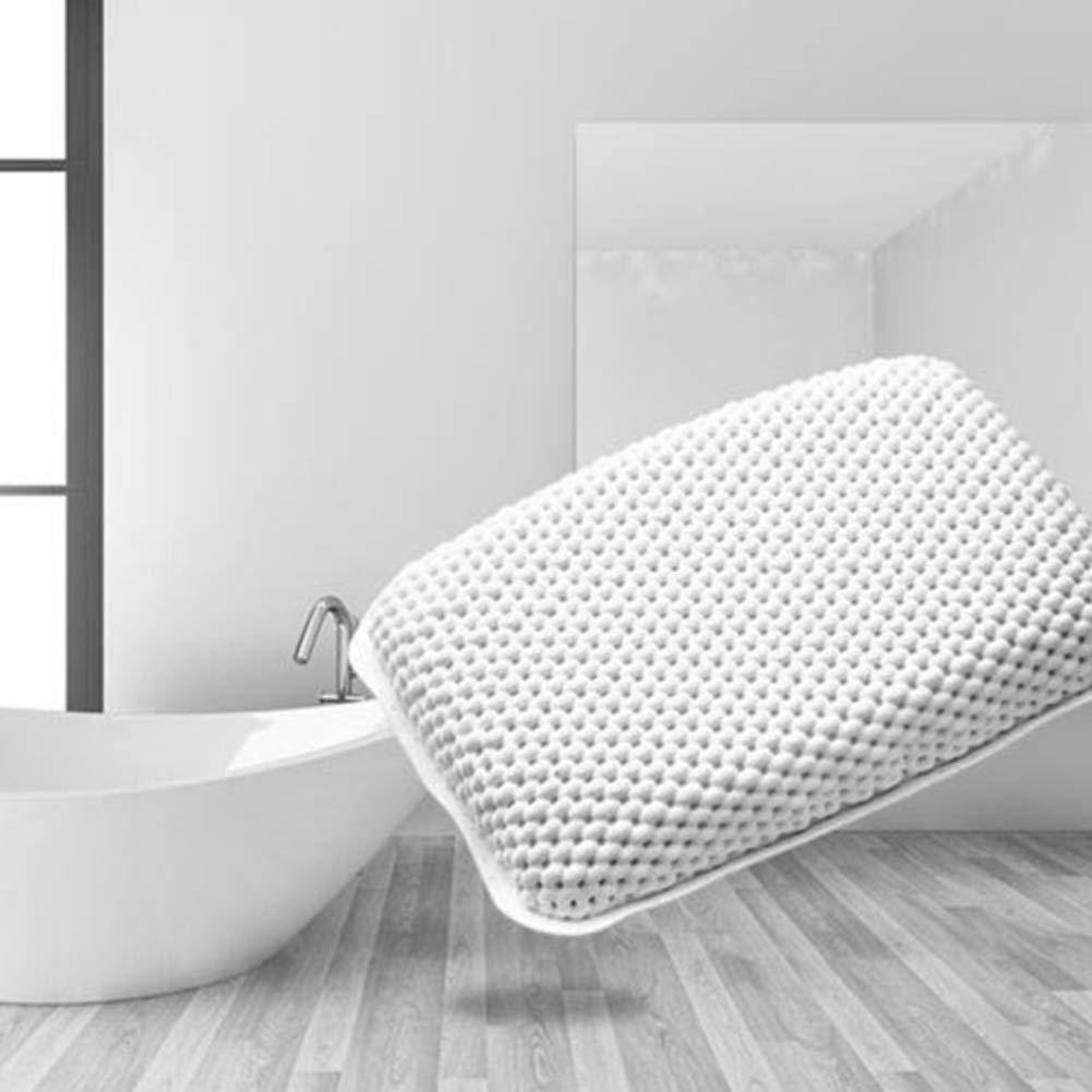 Oreiller de baignoire avec 8 ventouses Coussin de soutien relaxant antid/érapant pour le cou la t/ête et les /épaules