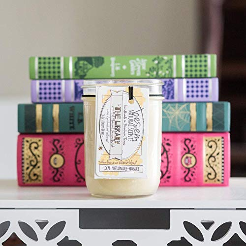 The Library Tallow Beeswax candle