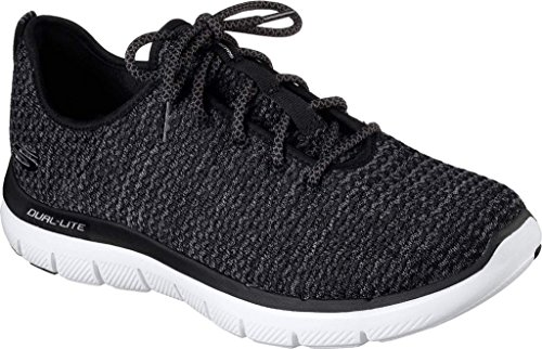 Skechers Flex Advantage 2.0-Cravy, Zapatillas de Entrenamiento para Hombre Black-White
