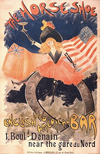 The Horseshoe English & American Bar 1890s Poster Print by Abel Truchet (24 x 36) ()