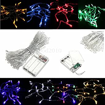 Lights & Lighting - 10m 80led Battery Powered Led Funky Twinkling Lamp Fairy String Lights - Supercharged Guided Smelly Barrage Powerful Conducted Foetid - 1PCs