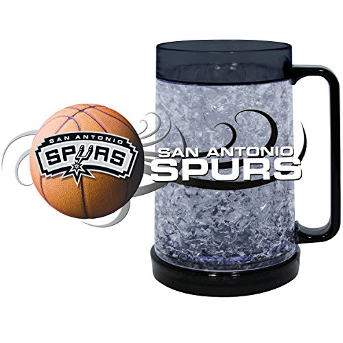 (NBA San Antonio Spurs Freezer Mug (16-Ounce), Large, Black )