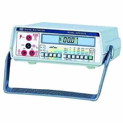 GW Instek GDM-8034 3-1/2 Digits LCD Digital Display Multimeter, 200mV/2V/20V/200V/750V AC Voltage Range