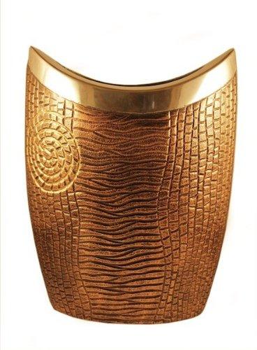 Buy Craft Lounz Wood Texture Aluminium Flower Vase Online At Low