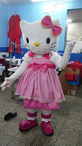 Hello Kitty Cartoon Character Costume Mascot Custom Products Kitty Cartoon (Large: (175-180))