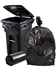 """Plasticplace 64-65 Gallon Trash Can Liners for Toter │ 1.2 Mil │ Black Heavy Duty Garbage Bags │ Rolls │ 50"""" x 60"""""""