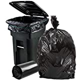 Plasticplace 64-65 Gallon Trash Can Liners for Toter │ 2.0 Mil │ Black Heavy Duty Garbage Bags │ Rolls │ 49' x 59' (50 Count)