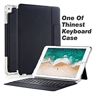 Valkit for iPad Air / iPad Air 2 / New iPad 9.7 2017 Keyboard Case, Wireless Smart Stand Protective Shockproof Heavy Duty Impact Back Cover for Apple iPad Air / iPad Air 2 / New iPad 9.7 2018 , Black