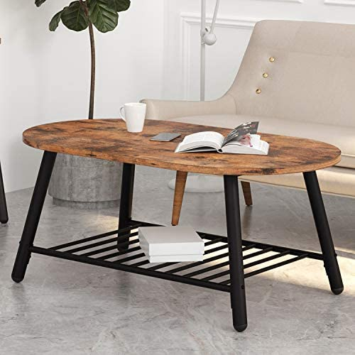 IRONCK Industrial Oval Coffee Table