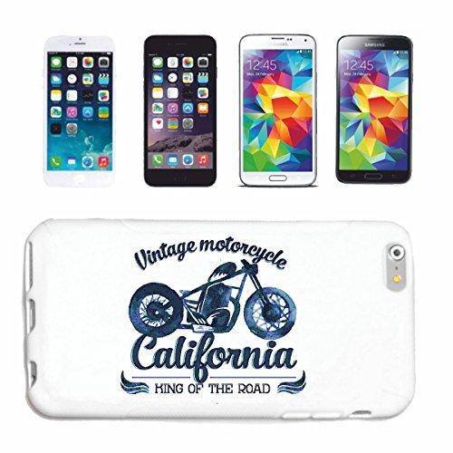 """cas de téléphone iPhone 7 """"VINTAGE MOTORCYCLE CALIFORNIA KING OF THE ROAD Motard SHIRT CHOPPER MOTO GOTHIQUE SKULL MOTO CLUB BIKE ROUTE 66"""" Hard Case Cover Téléphone Covers Smart Cover pour Apple iPho"""