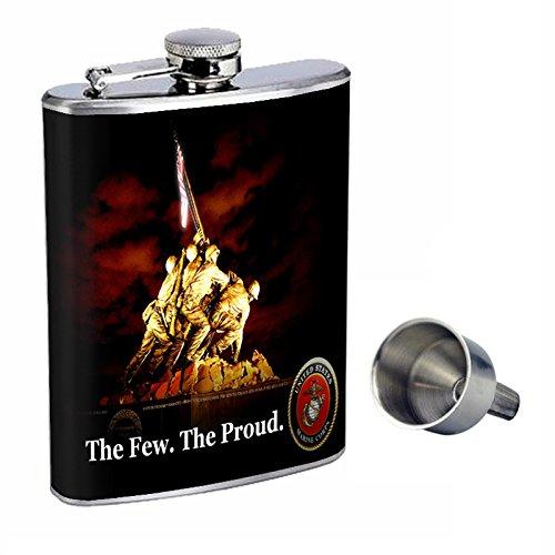 【代引可】 Marines Flask Perfection inスタイル8オンスステンレススチールWhiskey Flask with with Marines Free Funnel d-001 B017GOFJGM, リパブリック:6a0014ef --- book.officeporto.com