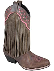 Smoky Mountain Womens Helena Fringe Cowgirl Boot Round Toe - 6568
