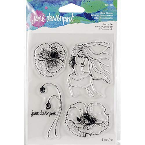 Jane Davenport Artomology Clear Stamps - Poppy Girl, Hair Lines and Build a Bouquet Sets